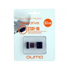 Накопитель USB 2.0 Flash Drive 32Gb Qumo Nano Black
