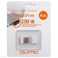Накопитель USB 2.0 Flash Drive 8Gb Qumo Nano White